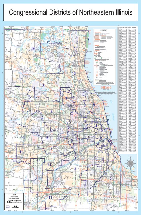 Congressional District Chicago Area Map